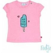 Feetje! Meisjes Shirt Korte Mouw - Maat 56 - Hardroze - Katoen/polyester/elasthan