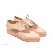 Pantofi dama bej casual-eleganti din piele naturala cod P53 - LICHIDARE STOC 36, 37