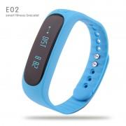 Bratara Fitness Smartband Bluetooth E02 albastru