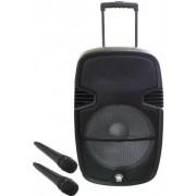 Boxa Portabila Orion OBTS-1715, 80 W, Bluetooth, USB, 2 Microfoane Wireless (Negru)