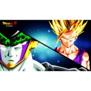 cell vs teen gohan sticker poster|dragon ball z poster|anime poster|size:12x18 inch|multicolor