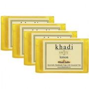 Khadi Swati Lemon Soap - Pack of 4 (125 Gms Each)