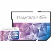Карта памет Team Group Color Card II 16GB Micro SDHC/SDXC UHS-I U3 + SD Adapter, TEAM-SDMICRO-16-C10