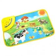 Wenasi Kids Baby Zoo Animal Musical Touch Play Singing Carpet Mat Toy Animal Playmat Farm Activity Toys