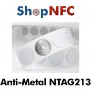 Tag NFC schermati NTAG213 rotondi adesivi 22mm