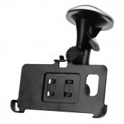 Sostenedor del soporte del coche + sostenedor del clip del telefono para el borde de samsung S6 mas - negro