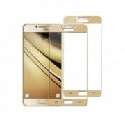 Set 2 folii protectie sticla securizata fullsize pentru Samsung Galaxy C5 / C5 Pro auriu