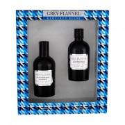 Geoffrey Beene Grey Flannel confezione regalo eau de toilette 120ml + dopobarba 120ml uomo scatola danneggiata