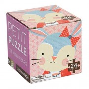 Petit Rabbit Puzzle for Toddlers - Made with Recycled Papar - Petit Collage - 24 Piece Mini Puzzle