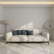 vidaXL Panou decorativ 3D pătrat, 0,5 m x 0,5 m, 24 plăci 6 m²