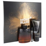 Mont Blanc Legend Night Eau De Parfum Spray 3.3 oz / 97.59 mL + Mini EDP Spray 0.25 oz / 7.40 mL + After Shave Balm 3.3 oz / 97.
