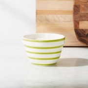 Avery Green Stripe Mini Mixing Bowl