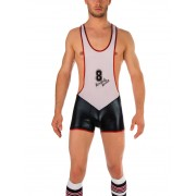 Barcode Berlin Juanjo Star Singlet Bodysuit Black/White 91311-101