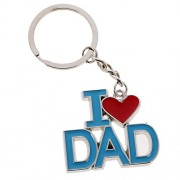 Rare I Love Dad Pendant Key Ring Keychains Kids Xmas Gifts Keychain Kid Blue Red