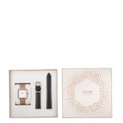 CLUSE Horloges Special Edition La Tetragone Rose Gold Plated Mesh Zwart
