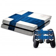 Finnish Vlag patroon Stickers voor PS4 Game Console