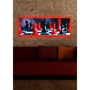 Tablou pe panza iluminat Shining, 239SHN1252, 30 x 90 cm, panza
