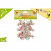 Pasqua allegre decorazioni a forma di coniglio con mollette 4 cm 6 pezzi 680171 617