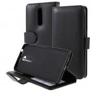 Bolsa tipo Carteira com Função de Suporte para Nokia 8 - Preto