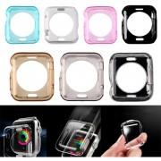 EH Apple Seguir TPU 42mm Concha Protectora De Color Transparente-Transparente