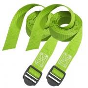 Set 2 ks upínací popruhy Master Lock 3377EURDATCOL - zelený - 250cm