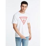 Guess T-Shirt Logo Warschau - Wit multi - Size: 2X-Large