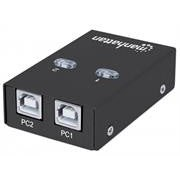 Manhattan Hi-Speed USB 2.0 Automatic Sharing Switch - 1x2 Ports
