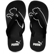 Puma Mens Black White Flip Flops