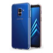 Husa Protectie Spate Ringke Fusion Clear plus folie protectie display pentru Samsung Galaxy A8 2018