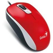 Egér, vezetékes, optikai, normál méret, USB, GENIUS DX-110 piros (GEEDX110R)