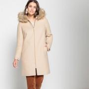 Manteau mi-long à capuche, fermeture zippée