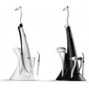 Professionele & Elektrische Tandsteen Verwijderaar Met LED-verlichting voor Witte en Gezonde Tanden – 2020 Vernieuwd Product – Tandplak Verwijderen – Draadloos Flosapparaat – Tanden Witten – Maarliefst 7-Delige Set – Gratis Tongschraper – Wit