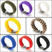 Meco 7 Strands ParaCord Bracelet String Cord Hand Ring With Quick Release Shackle Buckle For Survival