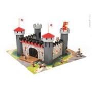 Set De Joaca Din Lemn - Castelul Cavalerului (Puzzle 30 Piese & 9 Accesorii)