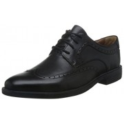 Clarks Men's Unbizley Limit Black Leather Formals & Lace-Up Flats - 8 UK/India (42 EU)