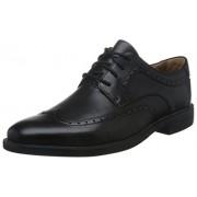 Clarks Men's Unbizley Limit Black Leather Formals & Lace-Up Flats - 8 UK/India (42 EU)
