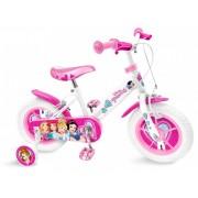 """Bicicleta pentru fetite 14"""" cu roti ajutatoare, ghidon si scaun ajustabil Disney Princess"""