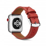 Top Layer Cowhide Leather Watch Strap for Apple Watch Series 4 40mm, Series 3 / 2 / 1 38mm - Red