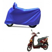 AutoAge Full Blue Two Wheeler Cover For Electric Optima Plus