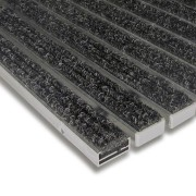 Textilní hliníková čistící vnitřní vstupní rohož Alu Standard - 100 x 100 x 1,7 cm FLOMAT