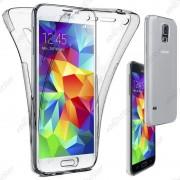 Ebeststar ® Pour Samsung Galaxy S5 G900f, S5 New G903f Neo - Housse Etui Coque Intégrale Avant Et Arrière Silicone Gel Invisible, Couleur Transparent [Dimensions Precises De Votre Appareil : 142 X 72.5 X 8.1 Mm, Écran 5.1'']