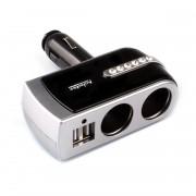 Nastaviteľná USB rozdvojka do auta pre 12/24V