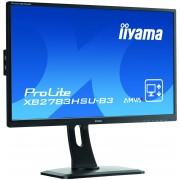 iiyama 27' 1920x1080, 4ms, AMVA+ panel, 13cm height adj. stand, Pivot, 300cd/m², VGA, DisplayPort, HDMI, Speakers, USB-HUB