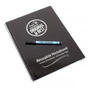A4 Hard Cover Reusable Magic Whiteboard Notebook