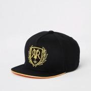 River Island Mens Boys Black RI embroidered cap (h 9-12Yrs)