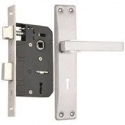 Spider SS Mortice KY Lock Set with Stainless Steel Finish (RML6+ AZ03M)