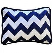 New Arrivals Accent Pillow Zig Zag in Navy