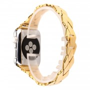 Rhombus Design Stainless Steel Watch Band Replacement for Apple Watch Series 5 4 40mm / Series 3 2 1 38mm - Gold