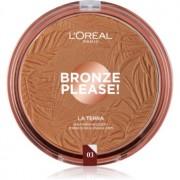 L'Oréal Paris Wake Up & Glow La Terra Bronze Please! polvos bronceadores y contorno tono 03 Amalfi Medio 18 g