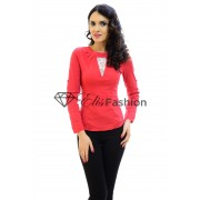 Bluza Counting Detail Red